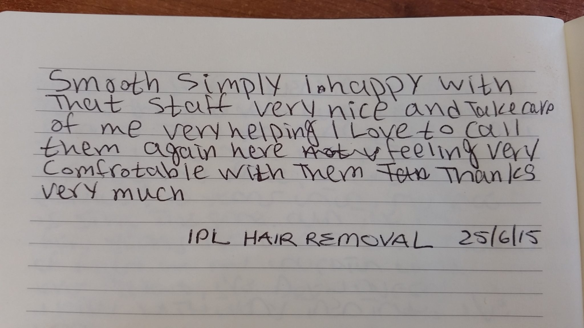 Laser Hair Removal Testimonial - Smooth and Simple